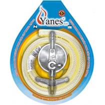 Regulador de Pressão P/ Gás GLP C/ Mangueira 80cm - YANES