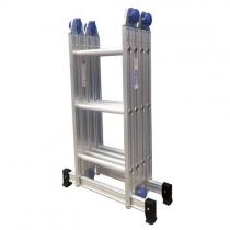 Escada Articulada Aluminio 4x4 com 16 Degraus de Alumínio Real